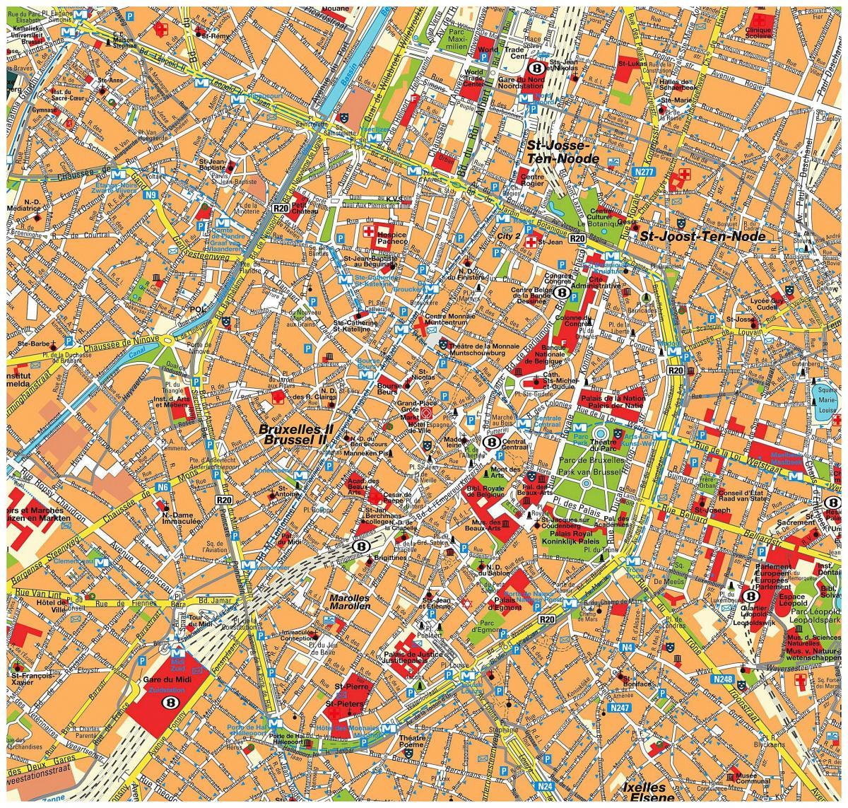 mapa ulica u bruxellesu belgija