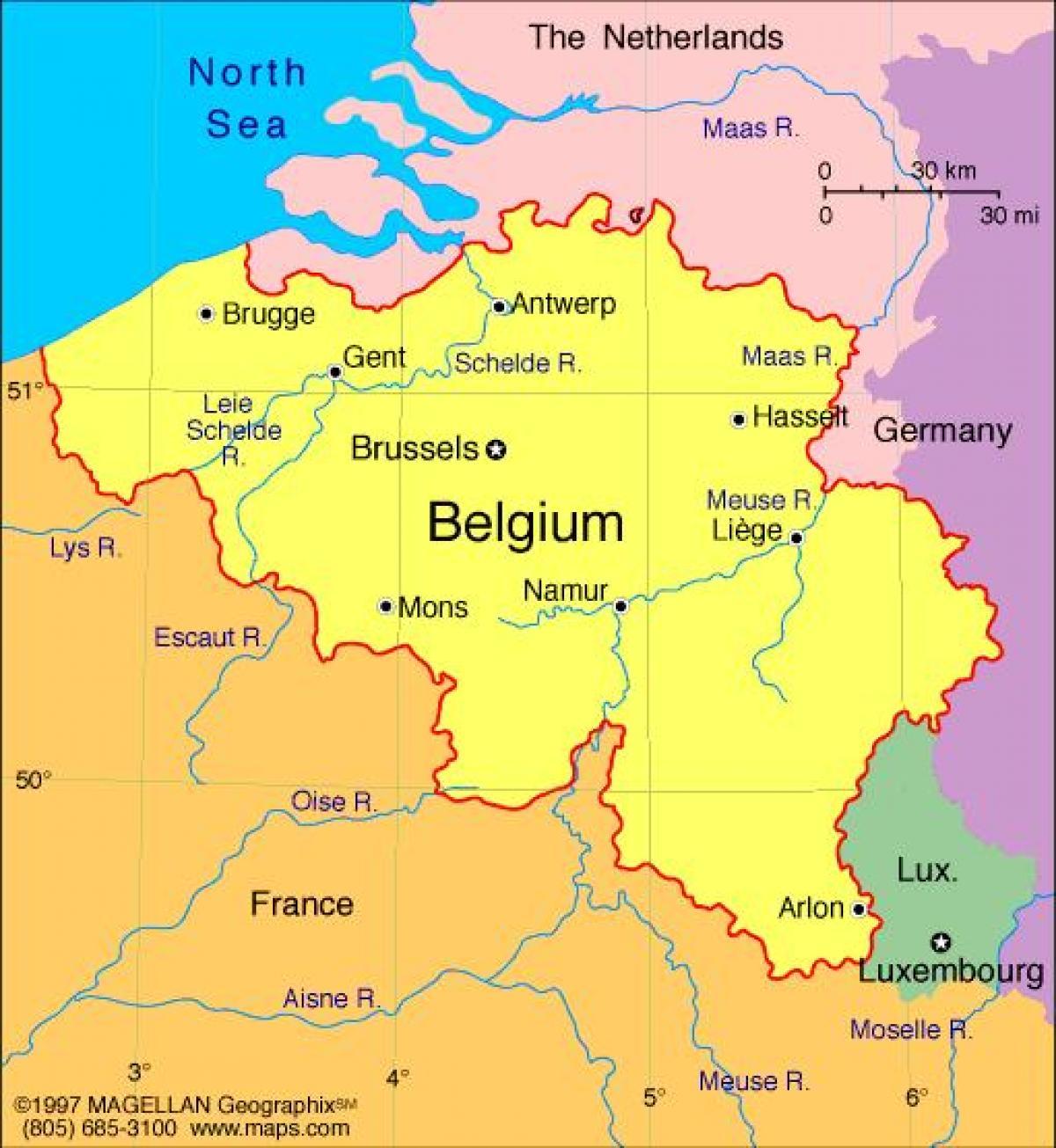 Karta Francuske I Bruxellesa Karta U Bruxellesu I U Francuskoj